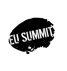 Eu summit rubber stamp vector