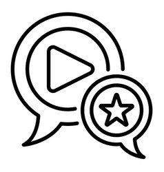 favorite video blog icon outline style vector image