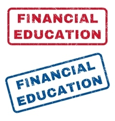 Financial Education Rubber Stamps vector image