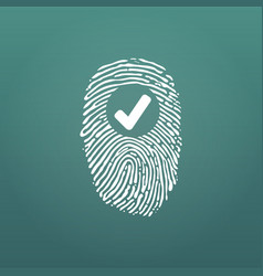 fingerprint success icon thumbprint with vector image