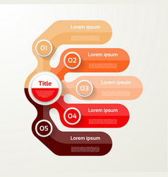 five elements banner 5 steps design chart vector image
