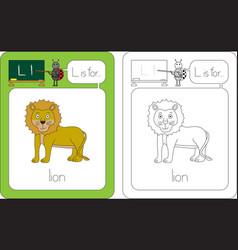flashcard letter l vector image