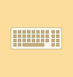 Flat icon on background computer keyboard vector