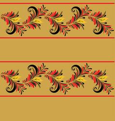 floral folk ornament vector image