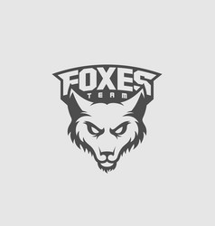 fox mascot vector image