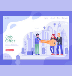 Get job offer and relocation opportunity concept vector