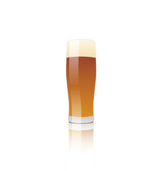 Glass of beer-02 vector