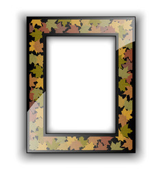Glass photo frame Autumn design vector