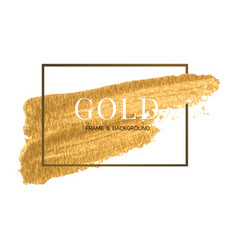 gold frame and border template watercolour brush vector image