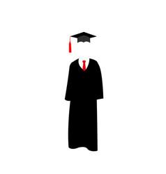 graduates mantle and cap vector image