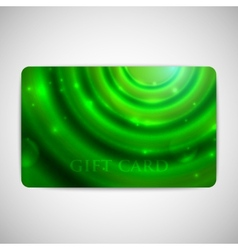 Green gift card with sparkles vector