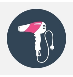 Hairdryer with cord two pin plug icon Household vector image