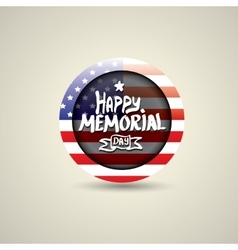 Happy Memorial Day round badge or sticker vector image