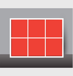 horizontal collage layout template frames for vector image