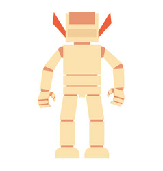 Humanoid robot icon cartoon style vector