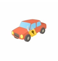 Impounded car icon cartoon style vector image