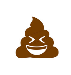 Isolated brown dung pondering laughing out loud vector