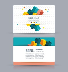 Isometric Business cards Design vector image