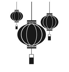 Lanterns decoration chinese traditional vector