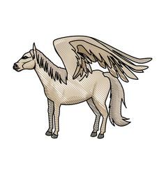 Legendary winged horse from greek mythology vector