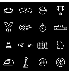 line racing icon set vector image