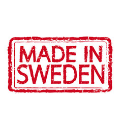 Made in sweden stamp text vector