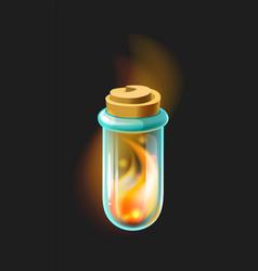 magic elixir pharmacy bottle for medicine or vector image