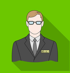 Male realtorrealtor single icon in flat style vector