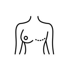 Mastectomy line icon vector