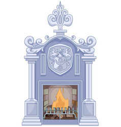 Medieval fireplace vector