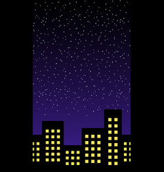 Night building horizontal seamless pattern vector