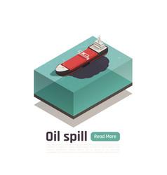 oil vessel pollution composition vector image