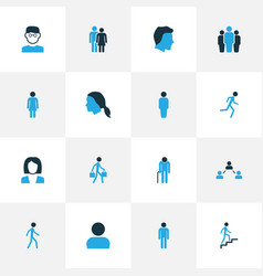 Person colorful icons set collection of human vector