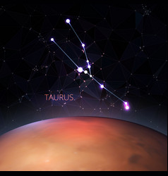 planet with zodiac taurus vector image