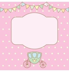 Polka dot background with frame for text or photo vector image