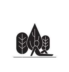 rest in the woods black concept icon rest vector image