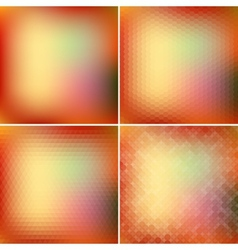 Retro colorful backgrounds collection vector image