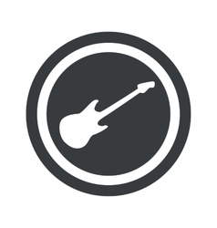 Round black guitar sign vector
