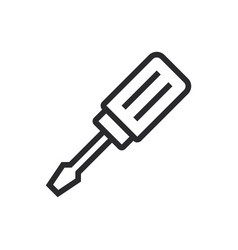 screwdriver icon in modern style for web site and vector image