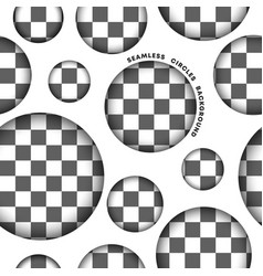 seamless circle pattern on transparent background vector image