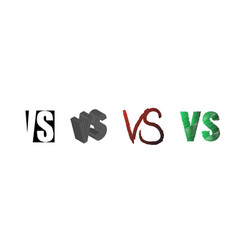 Set of symbol competition vs versus text letters vector