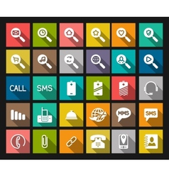 Set phone icon vector image