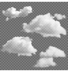 Set transparent clouds vector