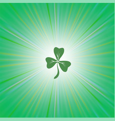 Shamrock green leaf vector