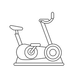 Spinning bike fitness or sport related icon image vector