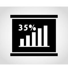 statistics graph vector image