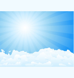 sunbeam and clouds vector image