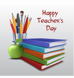 teacher s day card vector image
