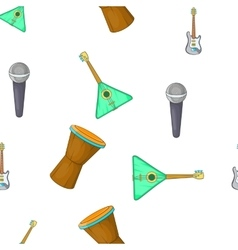 Tools for music pattern cartoon style vector