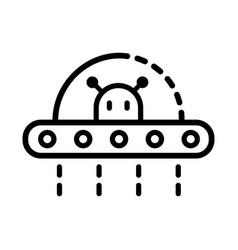 ufo outline icon vector image